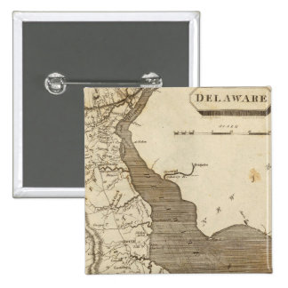 Delaware Map by Arrowsmith 15 Cm Square Badge