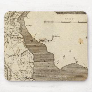 Delaware Map by Arrowsmith Mouse Mat