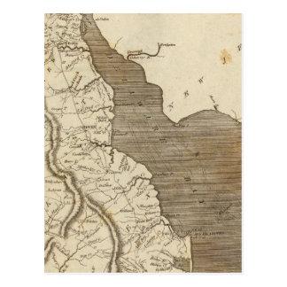 Delaware Map by Arrowsmith Postcard