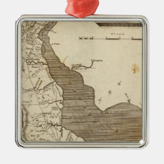 Delaware Map by Arrowsmith Silver-Colored Square Decoration