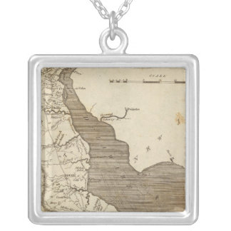 Delaware Map by Arrowsmith Silver Plated Necklace