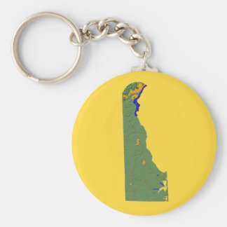 Delaware Map Keychain