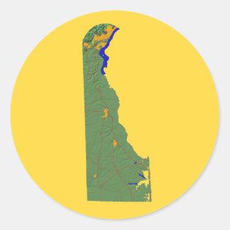 Delaware Map Sticker