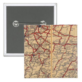 Delaware, Maryland, Virginia, West Virginia 15 Cm Square Badge