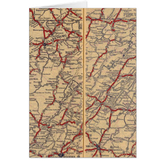 Delaware, Maryland, Virginia, West Virginia Card