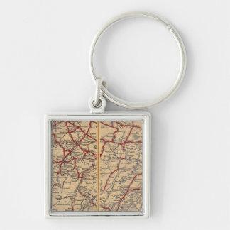 Delaware, Maryland, Virginia, West Virginia Key Ring