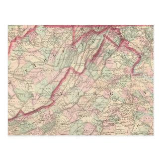 Delaware, Maryland, Virginia, West Virginia Postcard