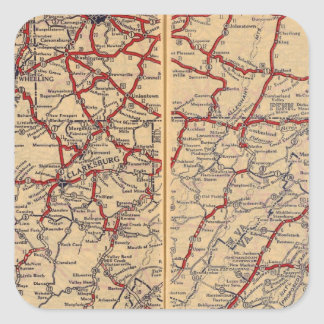 Delaware, Maryland, Virginia, West Virginia Square Sticker