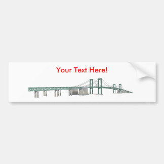 Delaware Memorial Bridge: 3D Model: Bumper Sticker