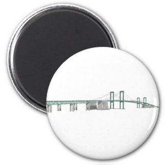Delaware Memorial Bridge: 3D Model: Magnet