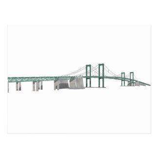 Delaware Memorial Bridge: 3D Model: Postcard