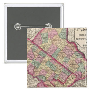 Delaware, Montgomery, Bucks counties 15 Cm Square Badge