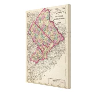 Delaware, Montgomery, Bucks counties Canvas Print