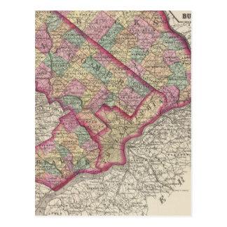 Delaware, Montgomery, Bucks counties Postcard