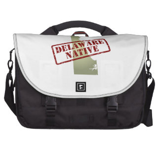 Delaware Native Stamped on Map Laptop Commuter Bag