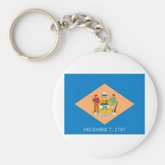 Delaware  Official State Flag Key Ring