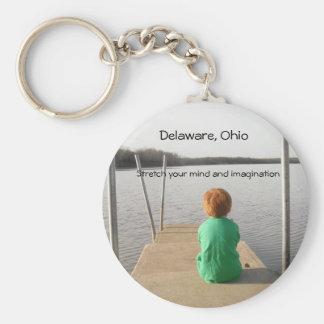 Delaware, Ohio Basic Round Button Key Ring