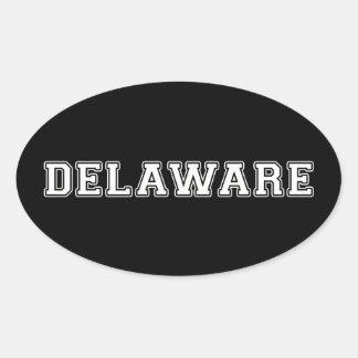 Delaware Oval Sticker