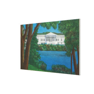 Delaware Park Historical Bldg and Lake View Canvas Print