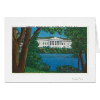 Delaware Park Historical Bldg and Lake View Card
