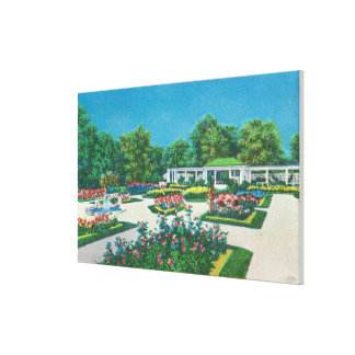 Delaware Park Rose Garden View Canvas Print