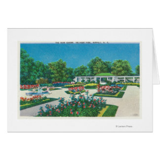 Delaware Park Rose Garden View Greeting Card
