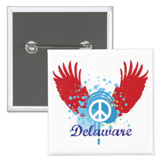 Delaware Peace 15 Cm Square Badge