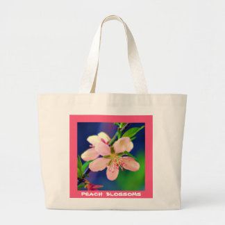 Delaware Peach Blossoms Large Tote Bag