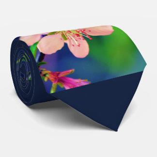 Delaware Peach Blossoms Tie