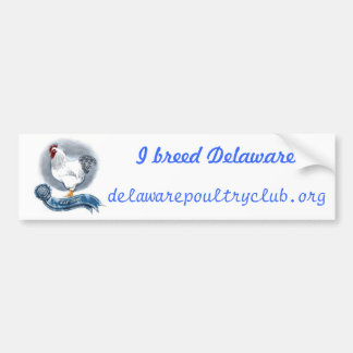 Delaware Poultry Club Bumber Sticker Bumper Sticker