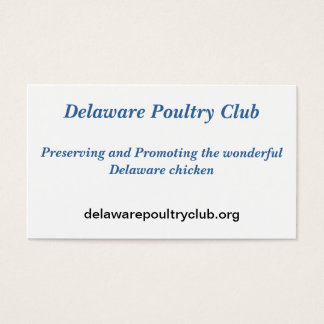 Delaware Poultry Club recruitment cards