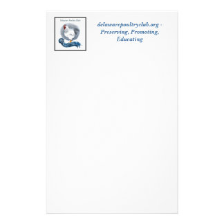 Delaware Poultry Club Stationary style 1 Personalized Stationery