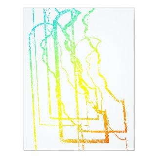 delaware pride blur 11 cm x 14 cm invitation card