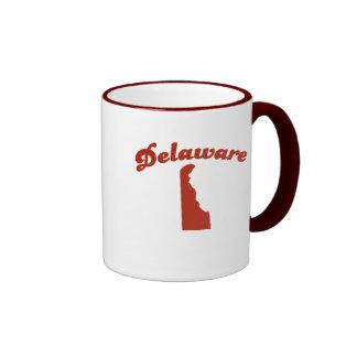 DELAWARE Red State Ringer Mug