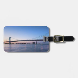 Delaware River, Ben Franklin Bridge Luggage Tag
