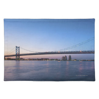 Delaware River, Ben Franklin Bridge Placemat