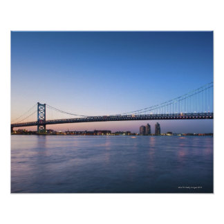 Delaware River, Ben Franklin Bridge Poster