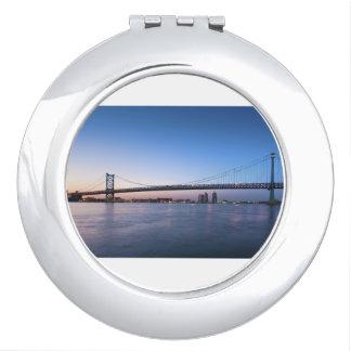 Delaware River, Ben Franklin Bridge Vanity Mirror
