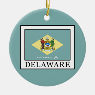 Delaware Round Ceramic Decoration