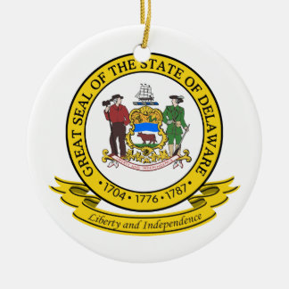Delaware Seal Christmas Ornament