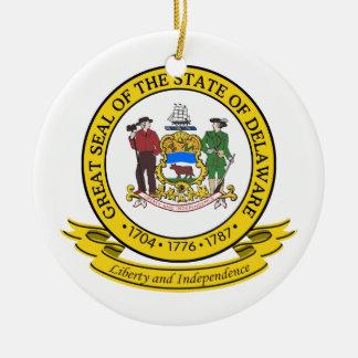 Delaware Seal Christmas Ornament