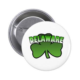 Delaware Shamrock Button
