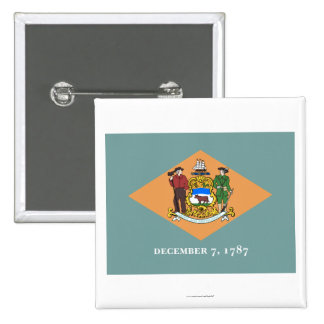 Delaware State Flag 15 Cm Square Badge