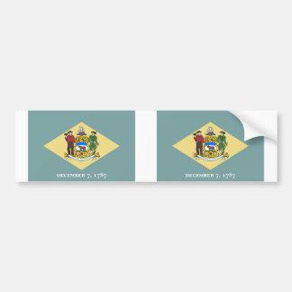 Delaware State flag Bumper Sticker