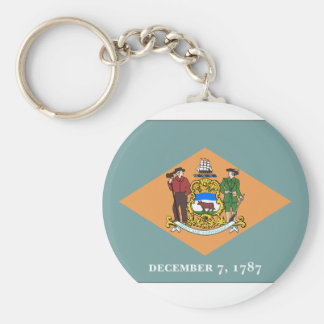 Delaware State Flag Key Ring
