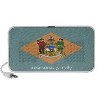 Delaware State Flag Notebook Speakers