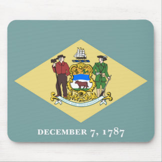 Delaware state flag usa united america symbol mouse mat