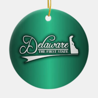 Delaware State of Mine Christmas Ornament