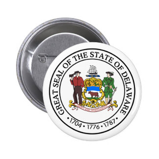 Delaware State Seal 6 Cm Round Badge
