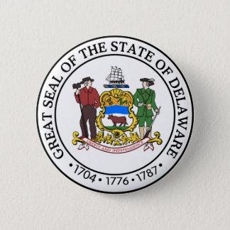 Delaware state seal america republic symbol flag 6 cm round badge